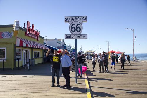 Nacho y Daniel en el Santa Mónica Pier