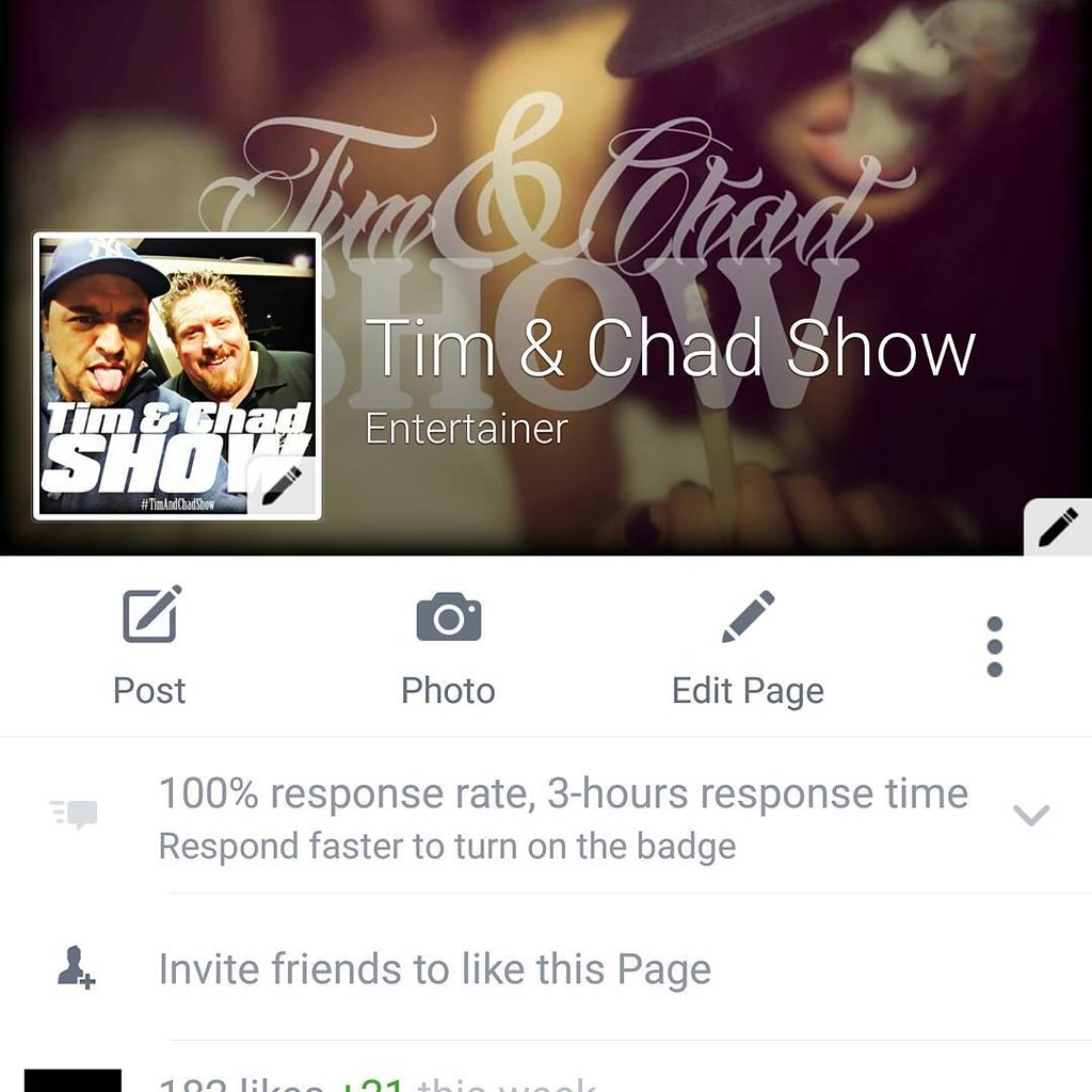 #timandchadshow Like US on Facebook for free!
