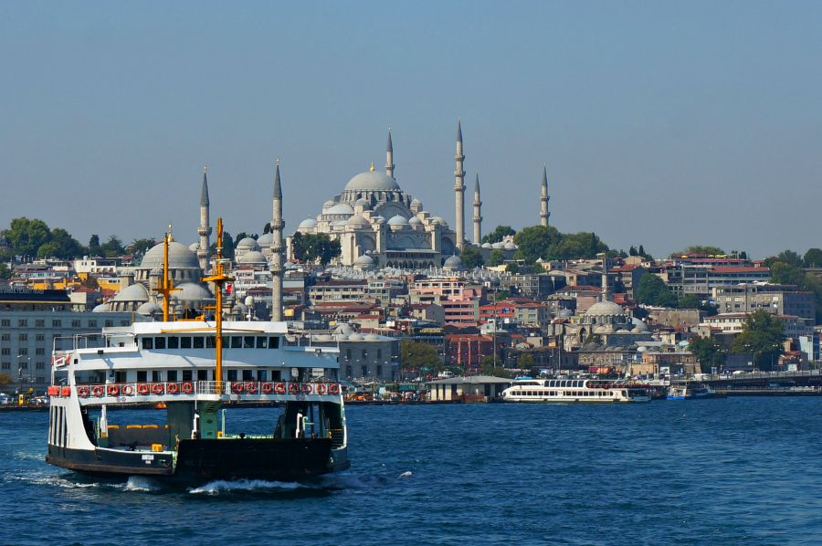 View from the Istanbul Ferry