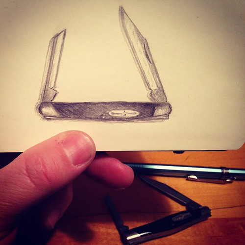 "Moleskine Sketching - Buck ""Deuce"" Pocketknife"