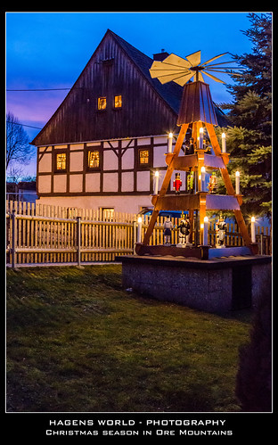 Christmas season in Ore Mountains