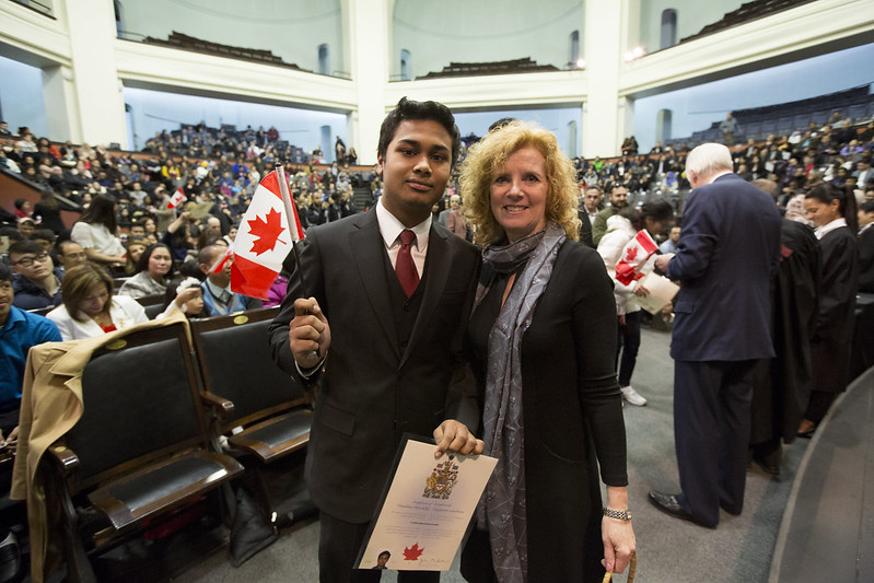 487 people became Canadian citizens at the University of Toronto's storied Convocation Hall on Feb. 6, 2016. It was the first swearing-in ceremony ever held at the downtown Toronto campus. All photos by Johnny Guatto.