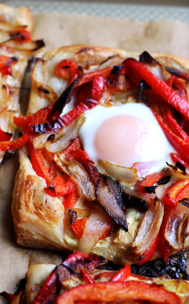 Baked Egg and Red Pepper Galettes
