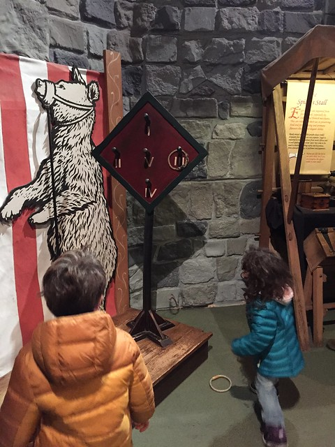 Great Dublin attractions for families: playing medieval games. Can you throw the hoops and hit the target? Have fun trying!