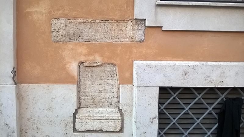 Inscriptions Trastevere Rome