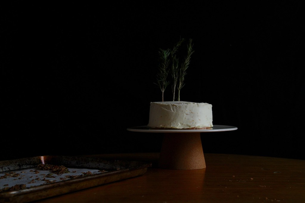 undecorated sumac rosemary blood orange cake