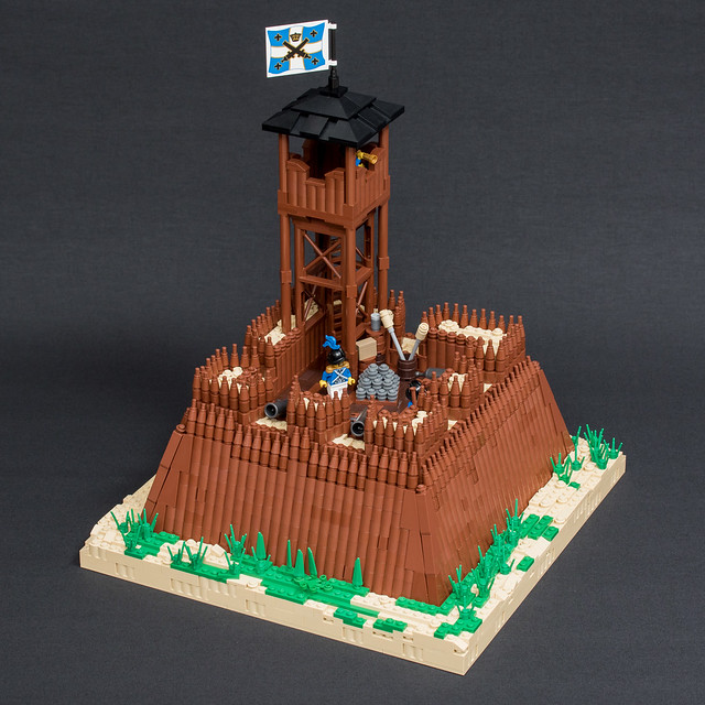 A stockade with a small fortprint the brothers brick the brothers brick - Ile pirate lego ...