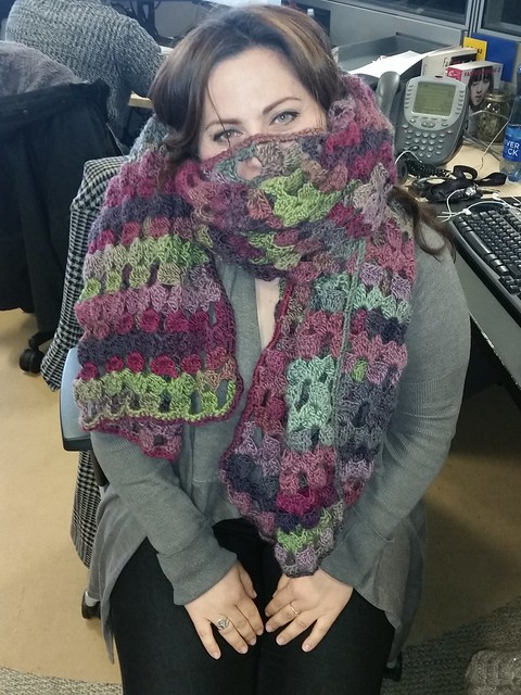 Wool wrap for Barbara. :)
