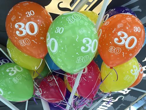 Heliumballonnen 30 Jaar