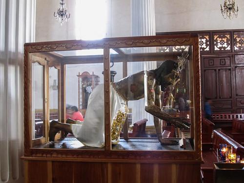 San Cristóbal de las Casas: ldans les églises d'Amérique Latine, les souffrances et le martyr de Jésus sont représentés de manière bien plus réalistes que chez nous