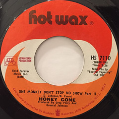 HONEY CONE:ONE MONKEY DON'T STOP  NO SHOW(LABEL SIDE-B)