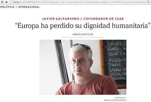 Javier Galparsoro en la Revista Revista CTXT: el contexto lo es todo