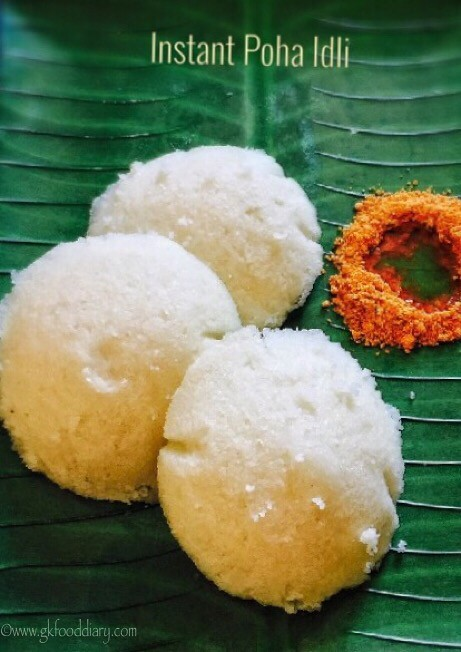 Instant Poha Idli Recipe for Babies, Toddlers and Kids2