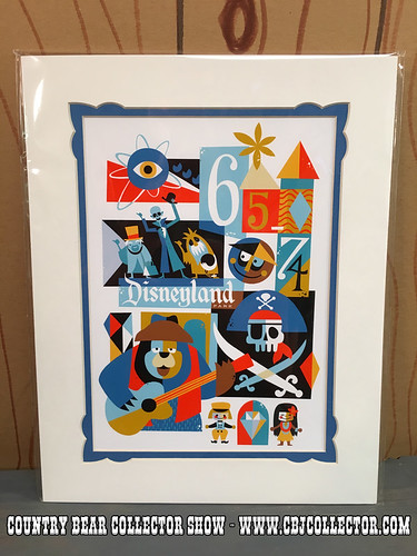 2015 Disneyland 60th Decades Art 1965-1974 Lithograph - Country Bear Jamboree Collector Show #044