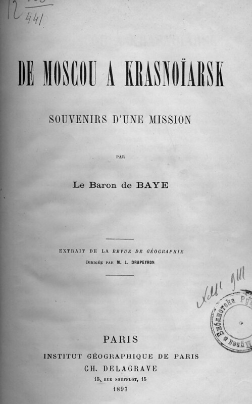 1897. Baye, Joseph de. De Moscou a Krasnoiarsk - souvenirs d'une mission_Страница_05