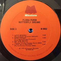 FLORA PURIM:BUTTERFLY DREAMS(LABEL SIDE-B)