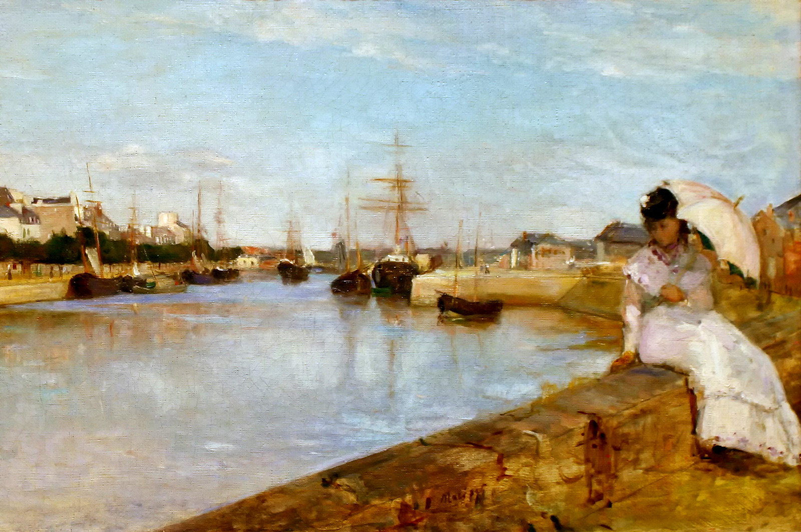 The Harbor at Lorient by Berthe Morisot, 1869
