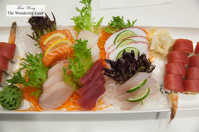 Platter of sashimi from Mizu Asian Bistro