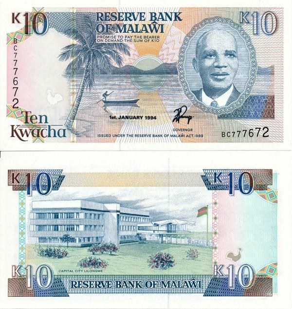 Malawi - 10 Kwacha 1994 UNC - Pick 25c