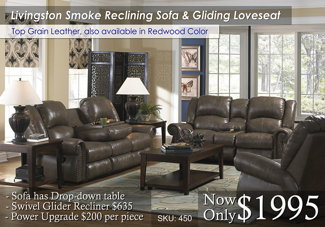 Livingston_smoke_ reclining Set 450