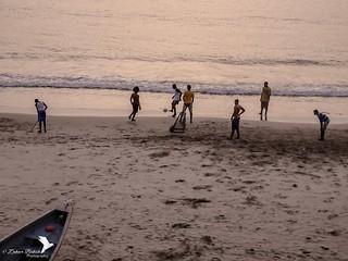 Football on D Beach
