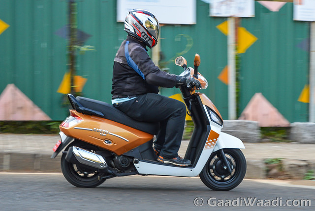 Mahindra Gusto 125 Test Drive review-28
