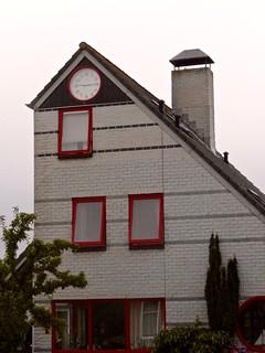 Clock house in the afterglow, Kamperland Zeeland the Netherlands