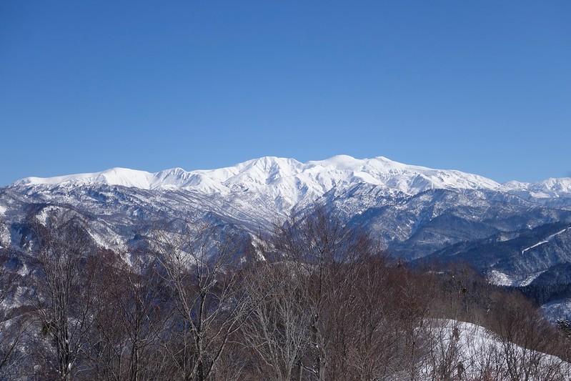 西山からの白山