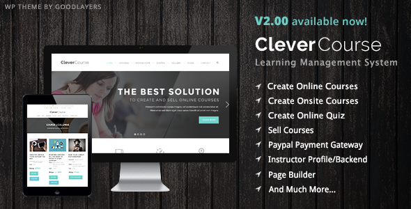 Themeforest Clever Course v2.03 - Learning Management System Theme