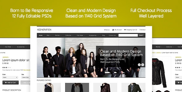 Themeforest E-commerce PSD Template