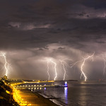 10. Juuli 2015 - 21:54 - Summer 2015 image stack of a lightning show over Poole Bay and Bournemouth.