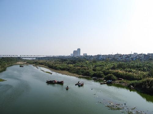 Hanoi: vue du pont Long Biên