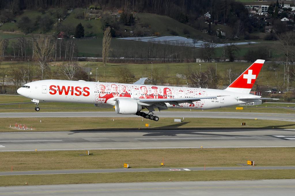 Swiss Boeing 777-300ER; HB-JNA@ZRH;08.02.2016