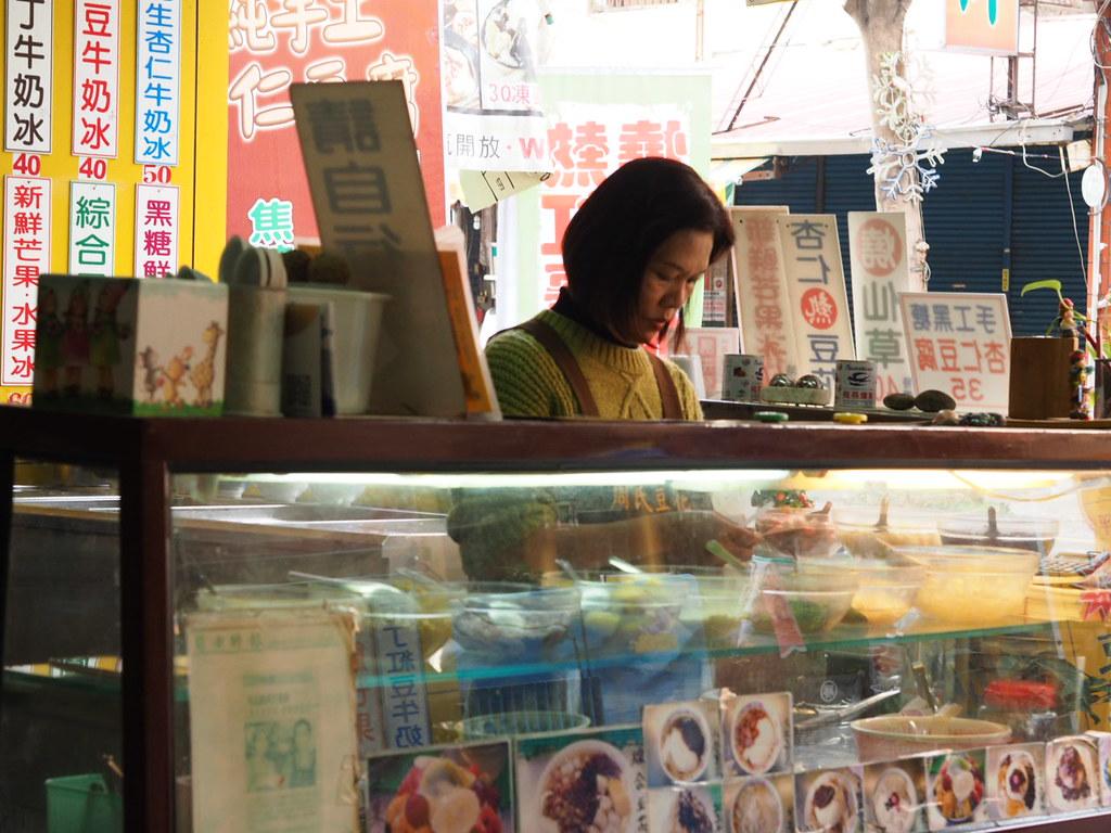 安平周氏豆花のショーケース