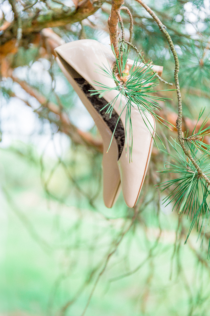 Nude bridal shoes for a Romantic Woodland Wedding Inspiration { Soft Peach Tones } | Photo by Igor Kovchegin Photography | Read more on Fab Mood - UK wedding blog