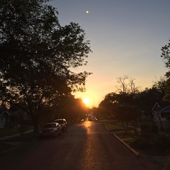 19 March 2016 #sunset #samespotforayear #nofilter
