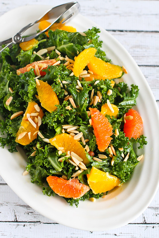 Kale, Toasted Almond and Orange Salad