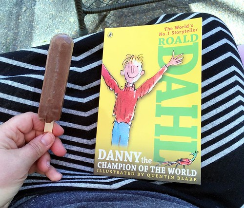 Starting a new read aloud today and attempting to read outside! (Historically this doesn't work well for us but I bought Popsicles that will hopefully hold their attention!) Danny, the Champion of the World by Roald Dahl. This one is new to all of us and