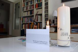 Karte und Kerze