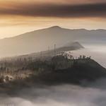 Misty Village near Mt. Bromo, East Java.