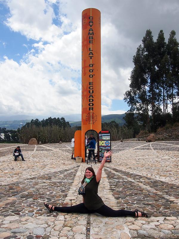 Splitting the equator in Ecuador