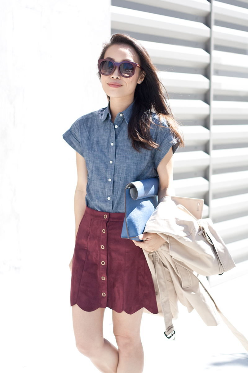 08bananarepublic-chambray-kylie-kendall-scallop-suede-skirt-sf-style-fashion