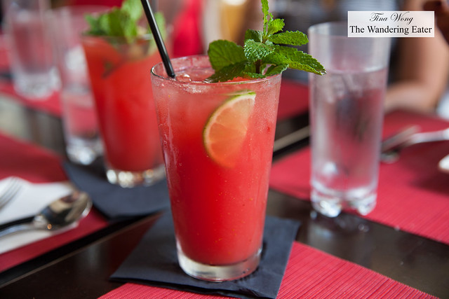 Fresh watermelon, lime, ginger juice