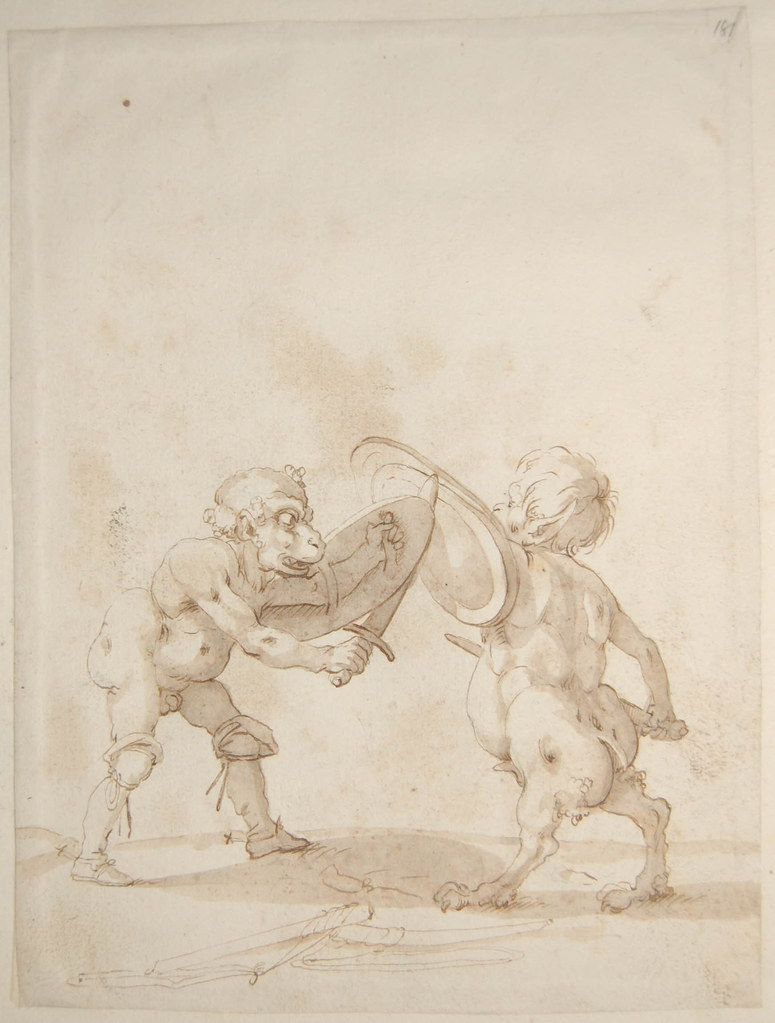 Arent van Bolten - Monster 181, from collection of 425 drawings, 1588-1633