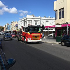 Scania Fire Tender in St Johns Street, Launceston Tasmania