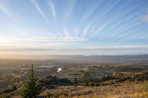 autumn fall clouds sunrise view central nz otago viewpoint cyde