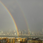Rainbows over the Hudson
