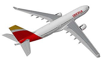 Iberia A330-200 fondo blanco (Iberia)