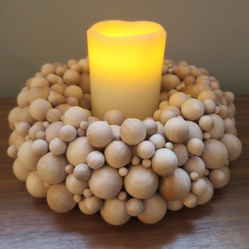Iron Craft '16 Challenge 1 - Wooden Ball Candleholder