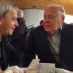 Werner Gilde und Josef Herbst - es gibt immer etwas zu besprechen.